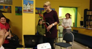 Małgorzata Szumska w Bibliotece Publicznej w Paczkowie