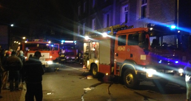 Pożar na skrzyżowaniu ulic Pocztowej i Staszica