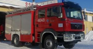 Samochód ratowniczo-gaśniczy MAN JRG w Paczkowie. foto: PSP Nysa