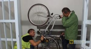 Akcja znakowania rowerów. Foto: KPP Nysa
