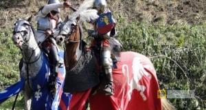 Inscenizacja walk rycerskich podczas Festynu Pogranicza w Paczkowie