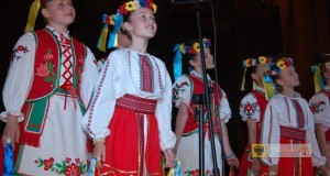 Dziecięcy zespół folklorystyczny z ukraińskiego Radziechowa. Foto.: OKiR