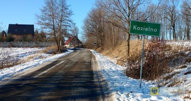 Wjazd do wsi Kozielno