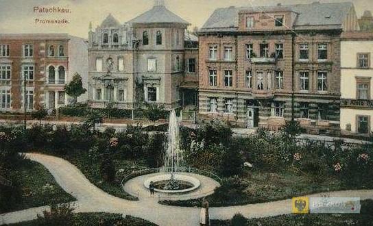 Przedwojenna fontanna w parku przy ul. Staszica