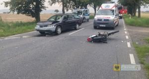 Motocyklista ranny w wypadku na DK46
