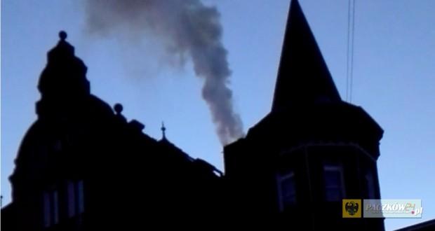 Pożar na Okrzei. Zdjęcie nadesłane przez Czytelnika